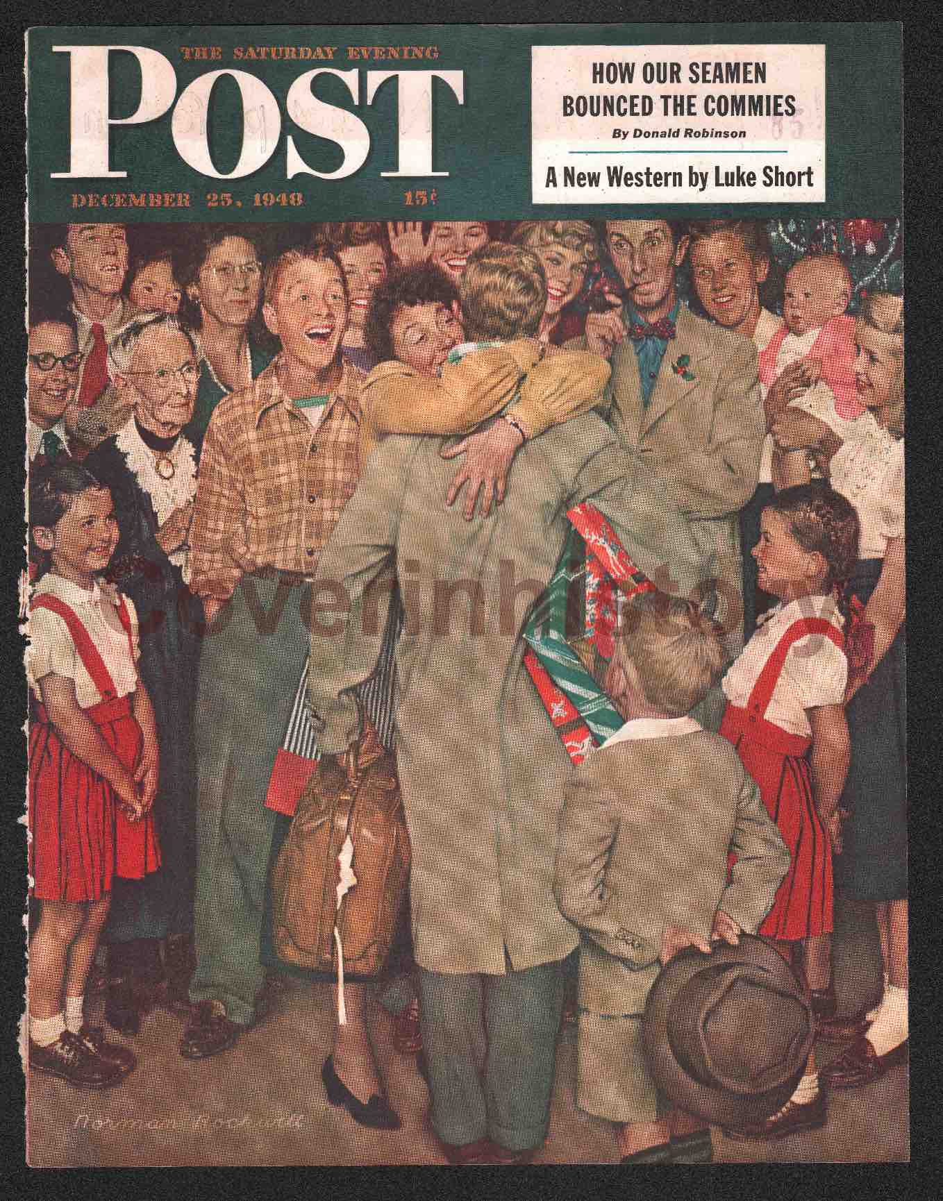 Christmas Homecoming Rockwell.Cover Illustration Norman Rockwell Homecoming Christmas